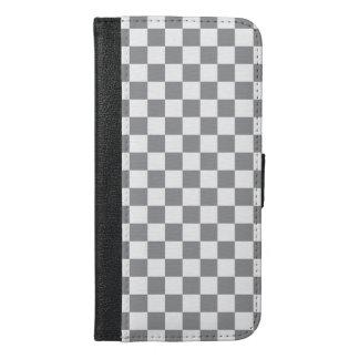 Graues Schachbrett iPhone 6/6s Plus Geldbeutel Hülle