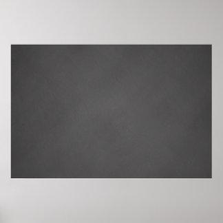 Graues Tafel-Hintergrund-Schwarz-Kreide-Brett Poster
