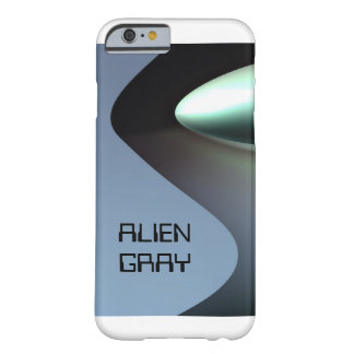 Graues Teelöffelauge des alien Barely There iPhone 6 Hülle