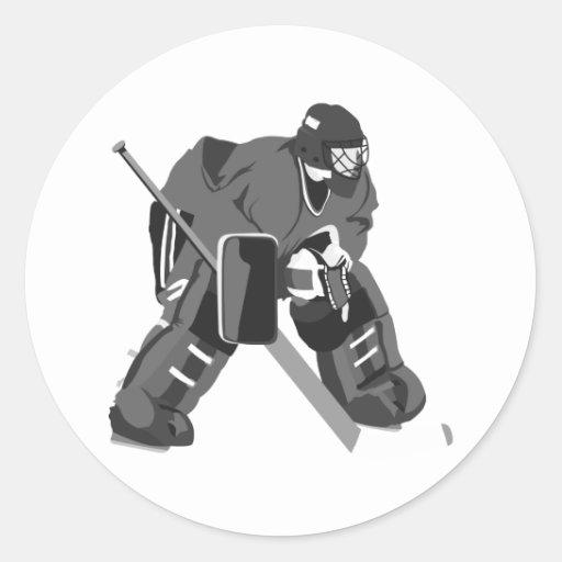 Graues Tormann-Hockey Aufkleber