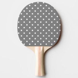 Graues Tupfen-Klingeln Pong Paddel Tischtennis Schläger