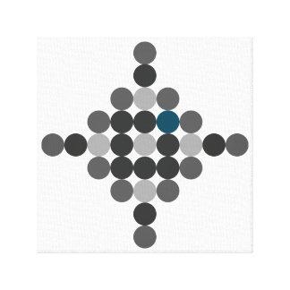 Graues u. blaues Aqua-geometrische Kunst Leinwanddruck