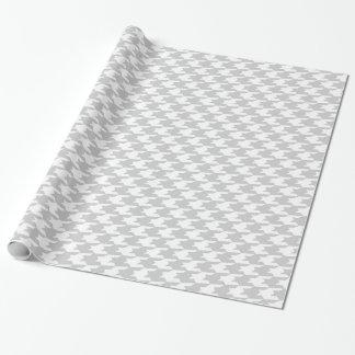 Graues u. weißes Hahnentrittmuster-Muster Geschenkpapier