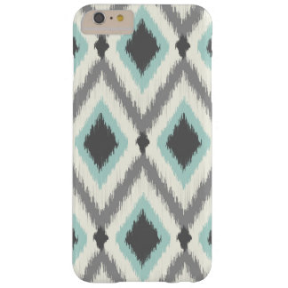 Graues und tadelloses Stammes- Ikat Zickzack Barely There iPhone 6 Plus Hülle