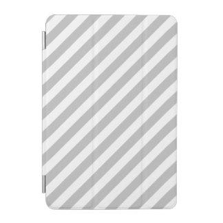 Graues und weißes diagonales Streifen-Muster iPad Mini Hülle