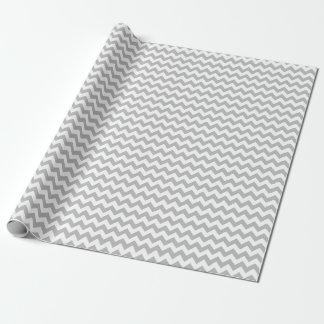 Graues und weißes mittleres Zickzack Geschenkpapier