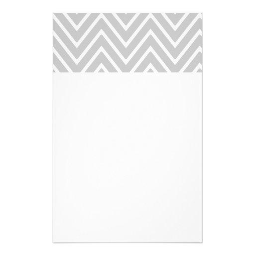 Graues und weißes Zickzack Muster 2 Büropapiere