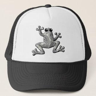 Graues Weiß-Paisley-Frosch Truckerkappe