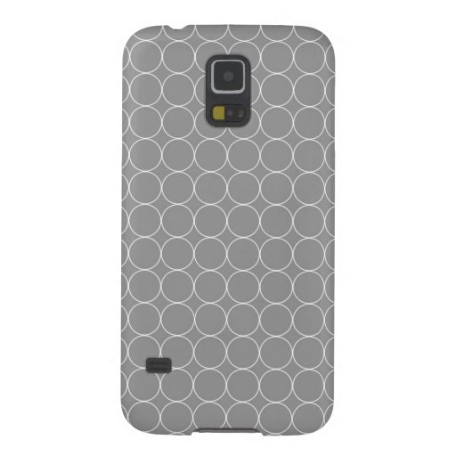 Graues Weiß Samsungs kreist Muster ein Samsung S5 Hülle
