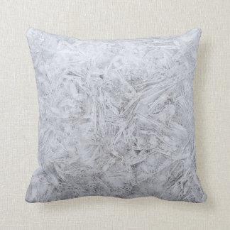 Graues Weiß-Wäsche-Kissen Kissen