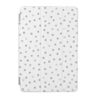 Graues Weißconfetti-Punkt-Muster iPad Mini Hülle