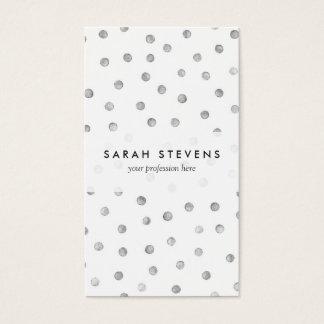 Graues Weißconfetti-Punkt-Muster Visitenkarte