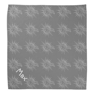 Graues Winter-Feiertags-Ren-personalisierte Kopftuch