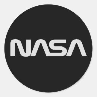 Graues Wurm-Logo der NASAs Runde Sticker