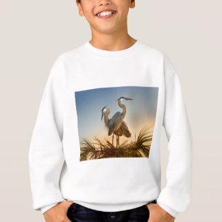 Graureiher am Sonnenaufgang Sweatshirt