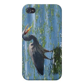 Graureiher-Fischen-Wildnis-Kunst iPhone 4/4S Cover
