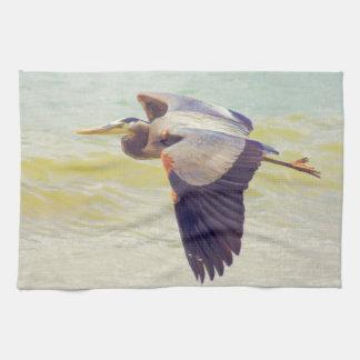 Graureiher Handtuch