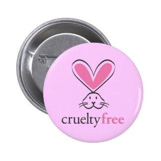 Grausamkeit geben Knopf frei Runder Button 5,1 Cm