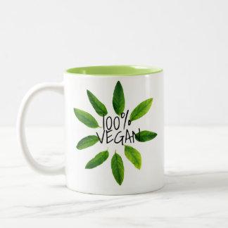 Grausamkeits-freie vegane Tasse, 100% VEGAN Zweifarbige Tasse