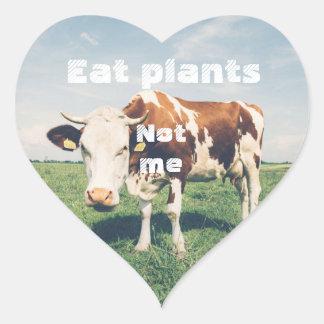 Grausamkeits-freier Herzaufkleber für veganes, Herz-Aufkleber