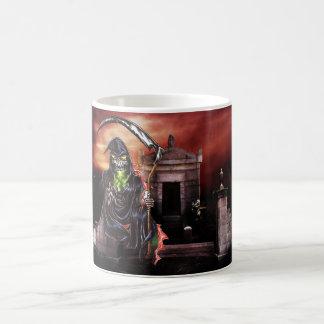 Graveyard-grimmiger Sensenmann Kaffeetasse