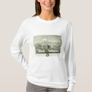 Gravierte Ansicht von St Petersburg 4 T-Shirt