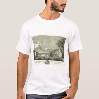 Gravierte Ansicht von St Petersburg T-Shirt