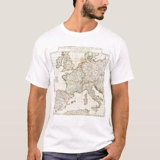 Gravierte Karte von Europa T-Shirt