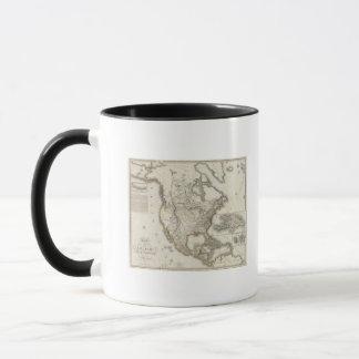 Gravierte Karte von Nordamerika Tasse