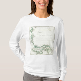Gravierte Karte von Panama T-Shirt