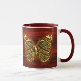 Gravierte Tasse des Schmetterlings-1