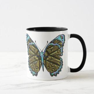 Gravierte Tasse des Schmetterlings-3