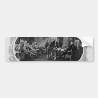 Gravierte Unabhängigkeitserklärung John Trumbull Autoaufkleber