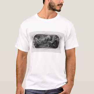 Gravierte Unabhängigkeitserklärung John Trumbull T-Shirt