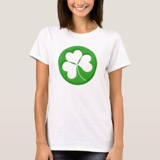 Gravierter Kleeblatt-Damen-T - Shirt