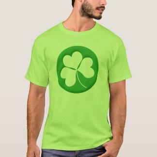 Gravierter Kleeblatt-T - Shirt