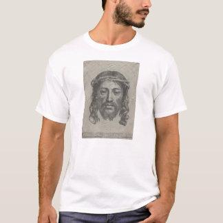 Graviertes Gesicht des Jesus Christus durch Claude T-Shirt
