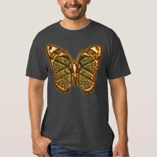 Graviertes Shirt des Schmetterlings-1