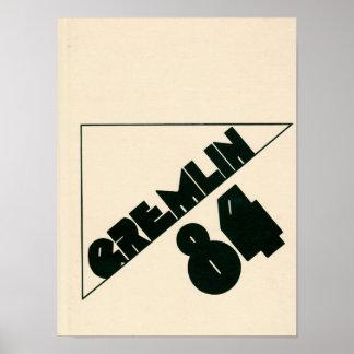 Graydon Gremlin Jahrbuch-Plakat 1984 Poster