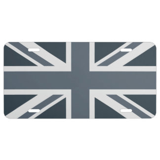 Grayscale-England-Flagge US Nummernschild