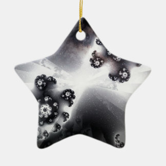 Grayscale-Galaxie Keramik Ornament