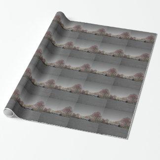 Grayscale-Scheune Geschenkpapier