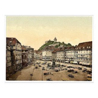 Graz, Marktplatz, Klassiker Steiermarks, Postkarte