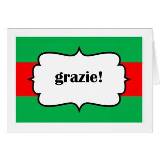 Grazie danken Ihnen in Italiano Karte Karte