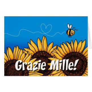 Grazie mille! (Italiener danken Ihnen Karte) Karte