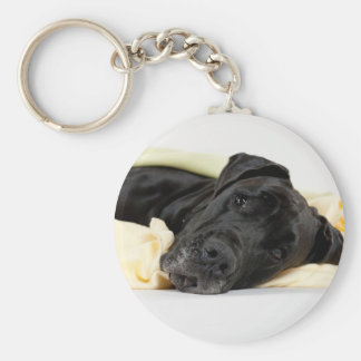 Great Dane - black / Deutsche Dogge - schwarz Schlüsselanhänger