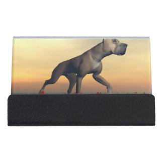 Great dane-Hund Schreibtisch-Visitenkartenhalter