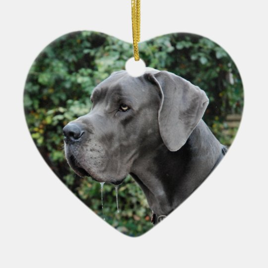 Great Dane Images Keramik Herz-Ornament