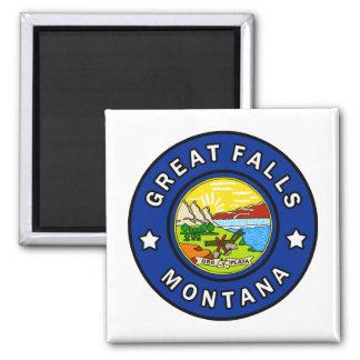 Great Falls Montana Quadratischer Magnet