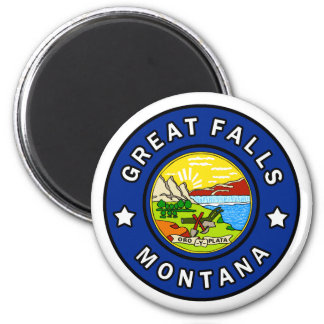Great Falls Montana Runder Magnet 5,7 Cm